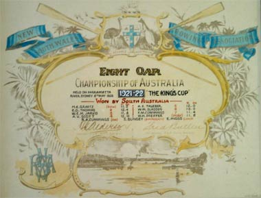 1922 Championship Certificate