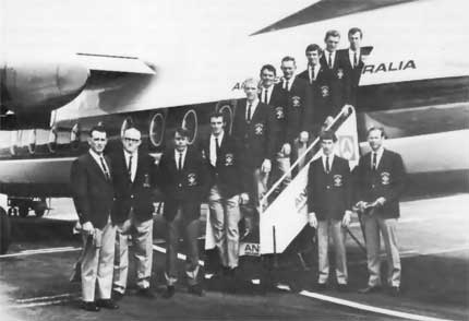 1971 First Ever Eight en route to Kings Cup in WA