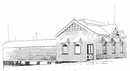 Original Boatshed over the river with cluroom added in 1909