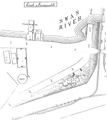 1911 Location Plan with 1922 Boatshed Superimposed