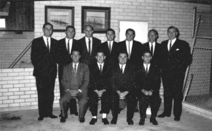 Committee in the new clubrooms circa 1962