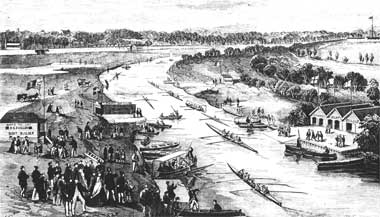 1867 The Yarra showing Edwards Boat shed on the right