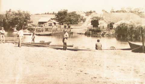 1861 The Punt at Punt Road - looking south.