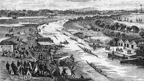 1867 Yarra on Easter Monday