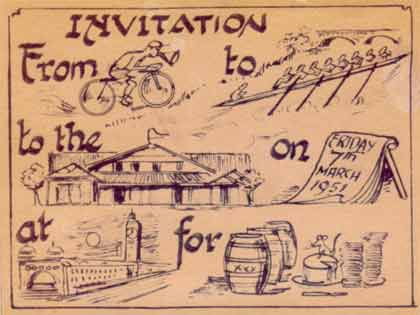 1951 Norm Cairns Invitation To Crew
