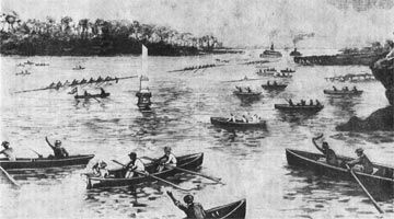 Finish of the 1893 Intercolonial Race