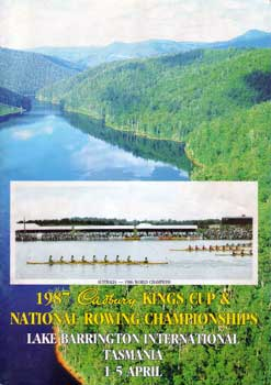 1987 National Rowing Championships Program Cover
