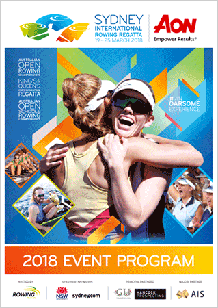 2018 Australian Rowing Championships program cover