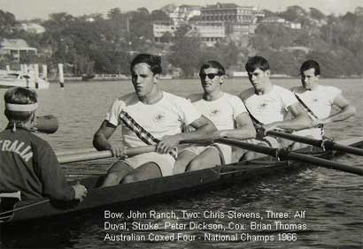 1966 NSW Composite Coxed Four in Australian Uniform