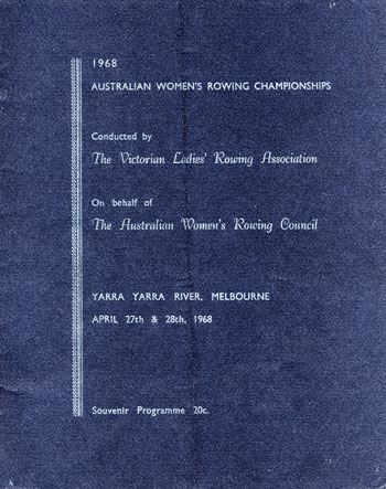1968 Australian Women's Rowing Championships Programme Cover