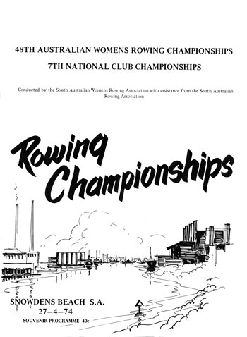 1974 Women's Rowing Championships Program Cover