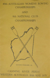 1975 Women's Programme Cover