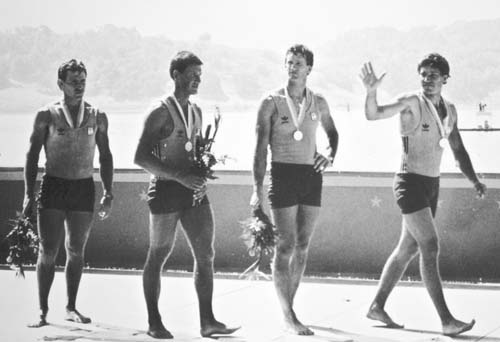 Men's Quad Scull Medal Presentation