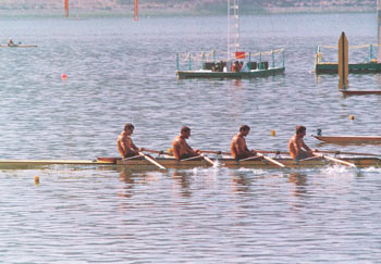 Men's Quad Scull racing