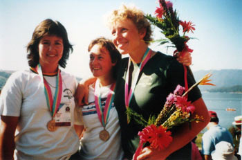 1984 Australian Women's coxed four celebrating