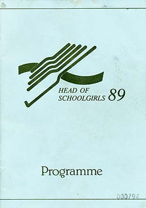 1989 Head of the School Girls Rowing Regatta Program Cover